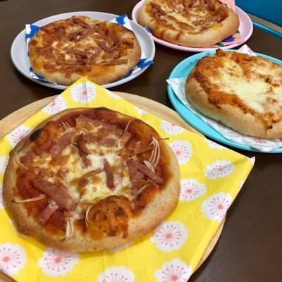 子どもと一緒に全粒粉入りピザ作り♪こどもの日にも♪