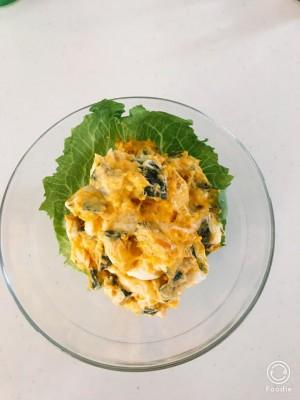 <超簡単料理>子どもも大好き!!かぼちゃとクリチのクリーミーサラダ☆