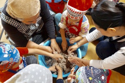 【親子で参加】女将と味噌作りワークショップ〜お寺でお点前と手前味噌編