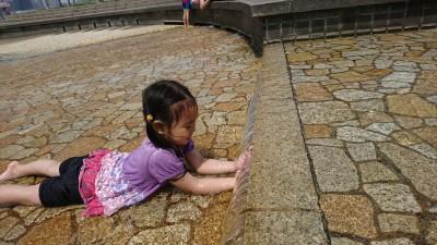 <台場>都内水遊び!潮風公園で、無料じゃぶじゃぶ!!