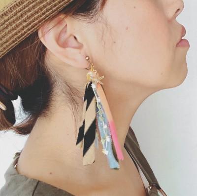 ハンドメイド☆簡単!100均の材料で出来る!タッセルイヤリングの作り方