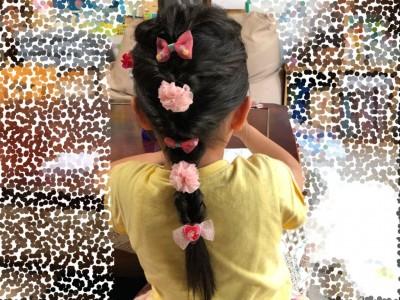 【おしゃれ】くるりんぱだけ!簡単かわいいヘアアレンジ♪女の子の髪型