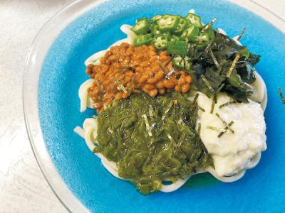 【バラエティ豊かな麺】夏休みランチカレンダー2018<ネバネバうどん>