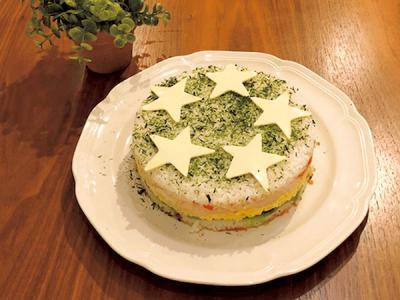 【ご飯アレンジ】夏休みランチカレンダー2018<ケーキ風おすし>