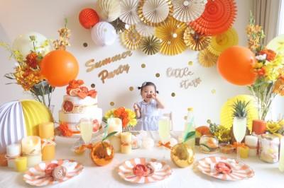 【デコレーション】ビタミンカラーをメインとしたホムパ風写真