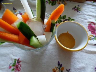 【簡単10秒レシピ】野菜苦手な子供も食べる!野菜スティック&ディップ!