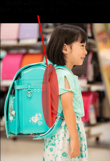 「『体感重量バッグ』を入れて背負い、背中とランドセルに空間ができなければOK! あとは、成長に合わせて肩ベルトの長さを調整してください」(川畑さん)