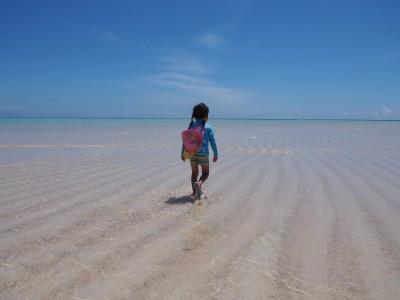 【与論島】地球の楽園!百合ヶ浜!曇りと晴れは大違い!