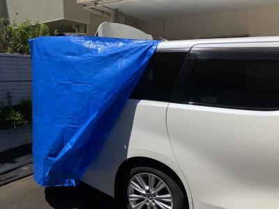 【手作り】車のトランクが更衣室に♪材料3つ!5分で簡単!