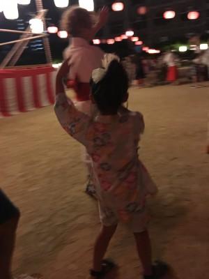 夜店と盆踊り