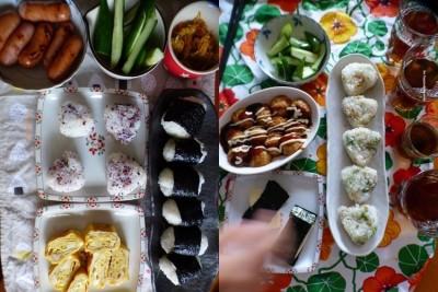 【夏休みランチ】おにぎり祭りじゃーゆかり梅入りおにぎりが美味い!