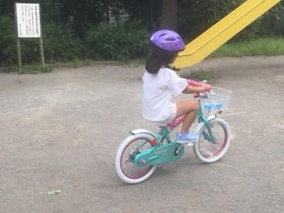 【成長記録】自転車に乗れるようなりました!