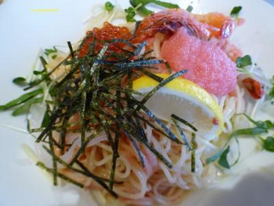 【ジョリーパスタ】夏のお楽しみ!贅沢いくらとたらこの冷製カッペリーニ!