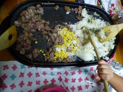 【あのお店の味!】安い肉で大満足のステーキライス!3人息子が作りました