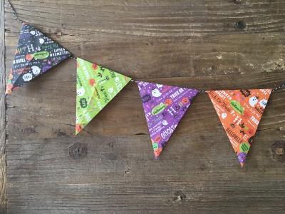 【ハロウィン・誕生日】簡単すぎ!でも可愛い♡折り紙ガーランドの作り方