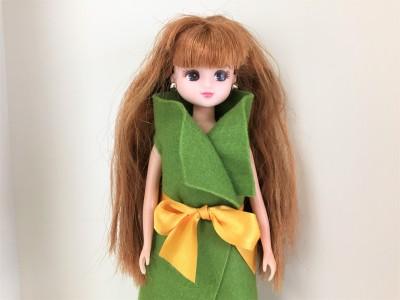 リカちゃんの秋冬ファッションは「100均フェルト」のモダンスタイル!
