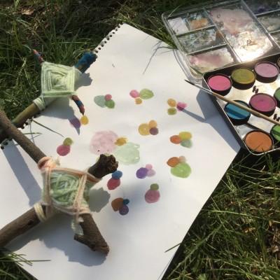 幼児絵画インストラクターが教える、子どもが驚くほどくいついた屋外での工作