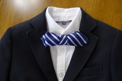 七五三☆不要ネクタイをリメイク!蝶ネクタイを簡単ハンドメイド