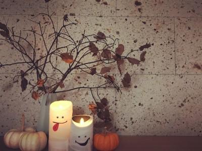 簡単ハロウィンインテリア♥ 【LEDキャンドル】を使ってみよう