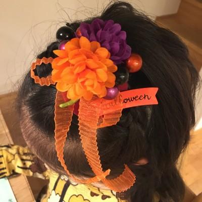 縫わずに【ダイソー・セリア】雑貨でハロウィン・キッズヘアアクセの作り方