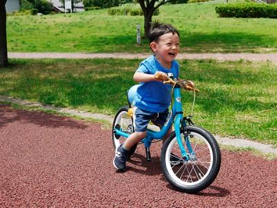 ケッターサイクルで補助輪パスして自転車デビュー!プレゼントも