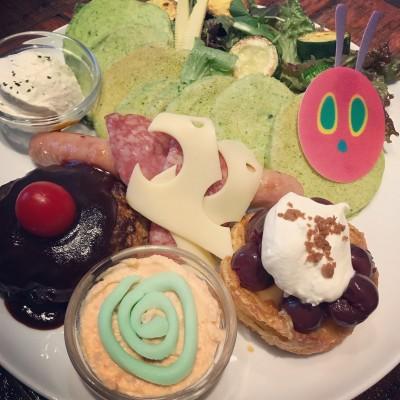 【はらぺこあおむしパンケーキ】可愛い美味しい子供ウケ間違いなし!