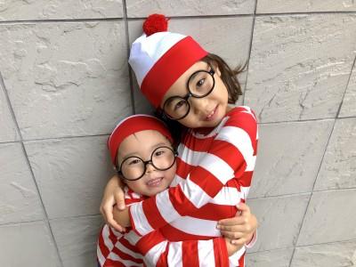 アマゾンでポチり。ウォーリー風ハロウィン仮装コーデ 男女兄弟にオススメ