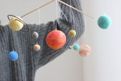 材料費700円以下!手作り惑星モビールは楽しく宇宙が学べる