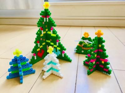 【クリスマス】アイロンビーズで立体ツリー!お友達へのプレゼントにも