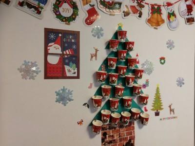 【お手軽簡単!】我が家のツリー風手作りアドベントカレンダー!