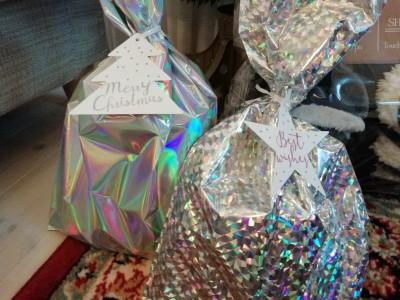【ダイソー】クリスマスホログラムバッグがキラキラでインパクト大で可愛い