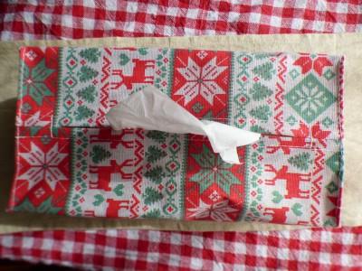 【セリア】可愛い♡クリスマスティッシュボックスカバー