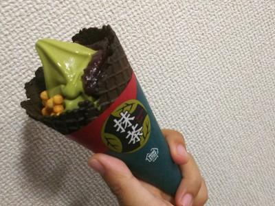 【ミニストップ】抹茶好き必見!新作プレミアムあずき抹茶ソフト★