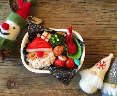 【クリスマス弁当】12月のお弁当はサンタやゆきだるまで子ども大喜び☆