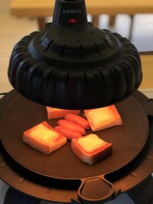 話題沸騰【ZAIGLE】煙やニオイの心配なし!赤外線グリルで激ウマ料理