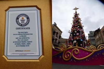 【USJ】今年もギネス認定☆世界一のクリスマスツリー