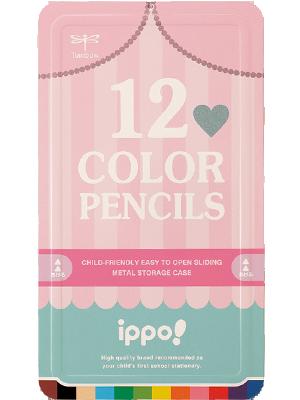 スライド缶入色鉛筆