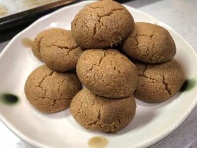 【お菓子作り】焼くまで10分!ワンボウルでできる!超簡単きな粉クッキー