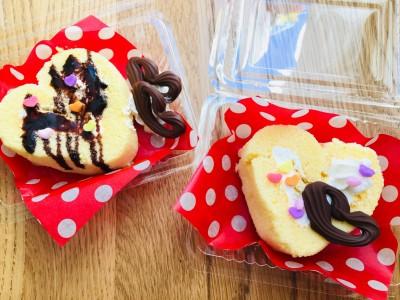 【バレンタイン】ハートのロールケーキ♡アレを使って超簡単♪