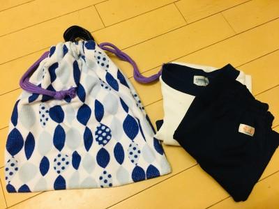 【入学準備】4回の直線縫いで体操着袋の完成!折って縫うだけ簡単作り方