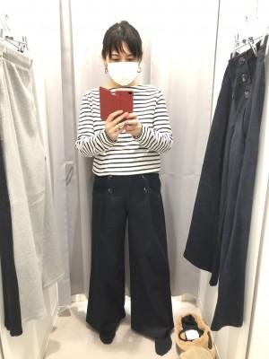 【GU】春の新作ワイドパンツ!マリンとリブが気になる!