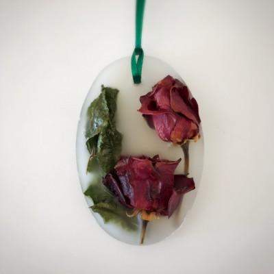 バラの花をドライに→更にアロマワックスバーに再利用♡
