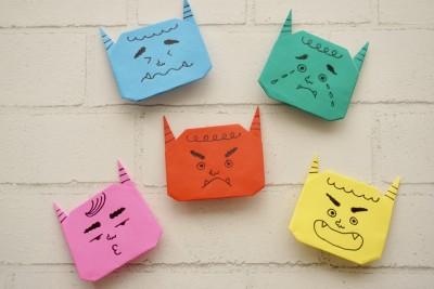節分に向けて【日本一簡単】な「折り紙の鬼」の作り方