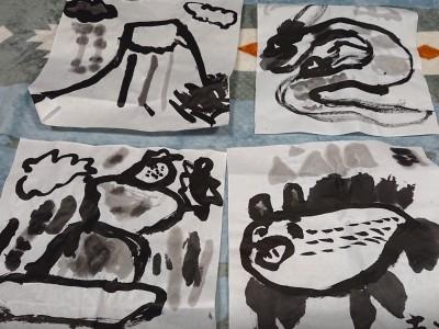 ピカソプロジェクトさんのイベントへ!水墨画をかこう!