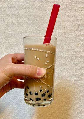 【業務スーパー】300円で4杯!タピオカミルクティーが手軽で美味しい!
