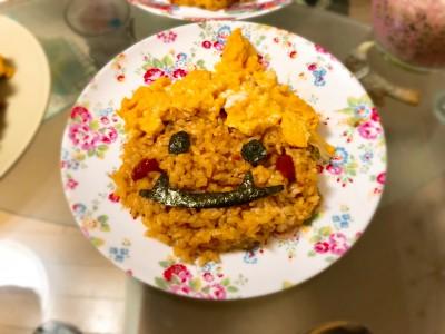 【節分レシピ】超簡単!子供が喜ぶ赤鬼オムライス