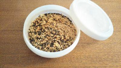 節分で残った豆をリメイク10分!子どもも大好き「ごま豆塩ふりかけ」