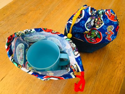 入園入学【マチ付き巾着袋の作り方】コップ袋にも。簡単で魔法みたい!