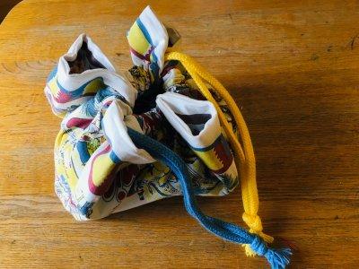 【入園入学準備】捨てられないバンダナが巾着袋に!適当にグルッと縫うだけ