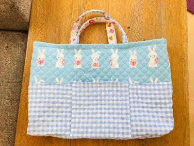 モッタイナイ!2人目入学準備は家にある布で。手さげがツギハギでも逆に◎